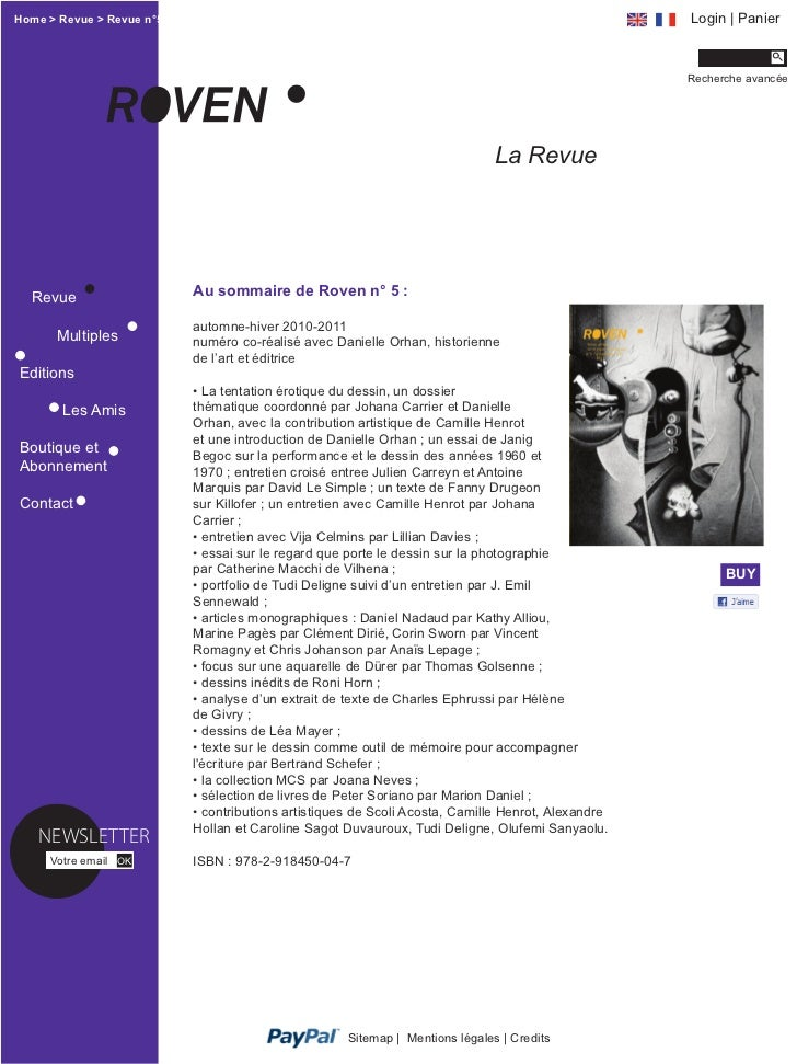 Home > Revue > Revue n°5                                                                            Login | Panier        ...