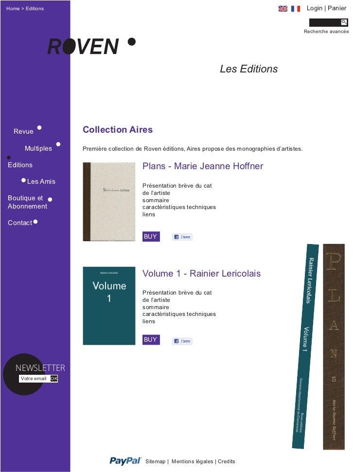 Home > Editions                                                                                            Login | Panier ...