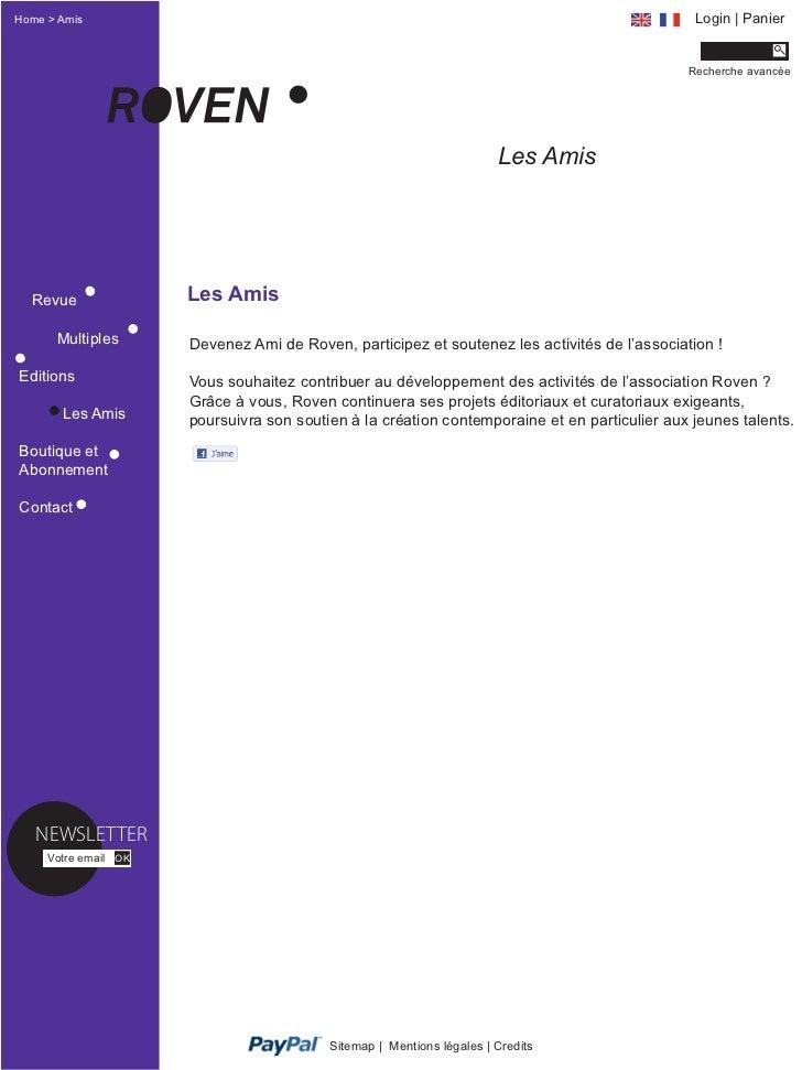 Home > Amis                                                                                    Login | Panier             ...