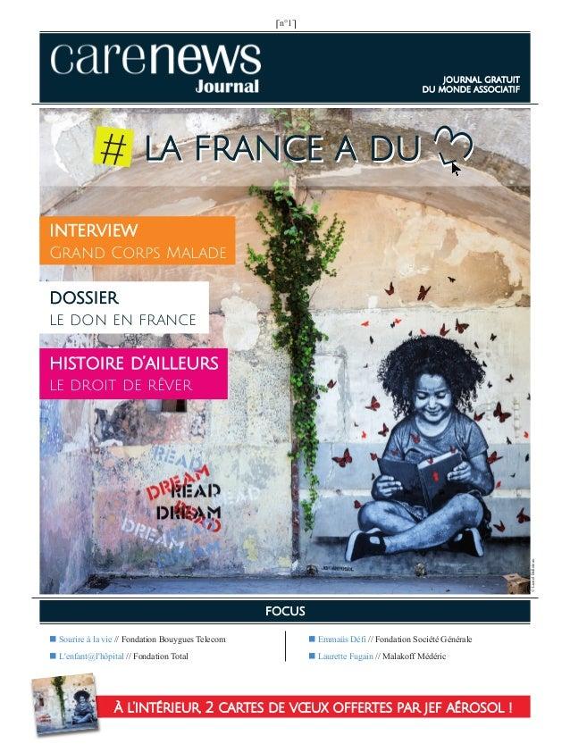‹3 ⎡n°1⎤ ■ Emmaüs Défi // Fondation Société Générale ■ Laurette Fugain // Malakoff Médéric ■ Sourire à la vie // Fondation...