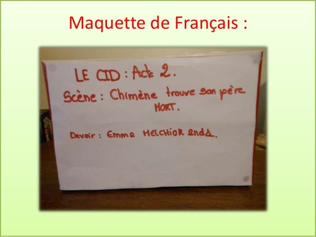 Maquette de Français :