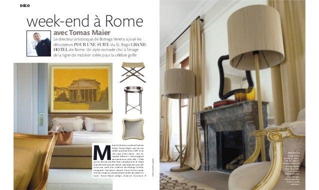 184 PHOTOSPATRICEGAVAND DÉCO week-end à Rome avec Tomas Maier Le directeur artististique de Bottega Veneta a joué les déco...