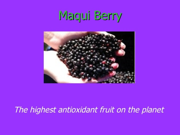 <ul>Maqui Berry </ul><ul>The highest antioxidant fruit on the planet </ul>