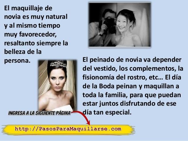 El maquillaje de novia es muy natural y al mismo tiempo muy favorecedor, resaltanto siempre la belleza de la persona. El p...