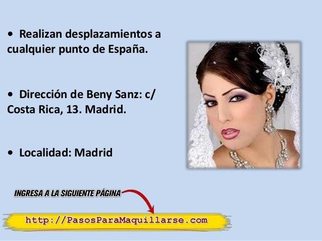 • Localidad: Madrid • Realizan desplazamientos a cualquier punto de España. • Dirección de Beny Sanz: c/ Costa Rica, 13. M...