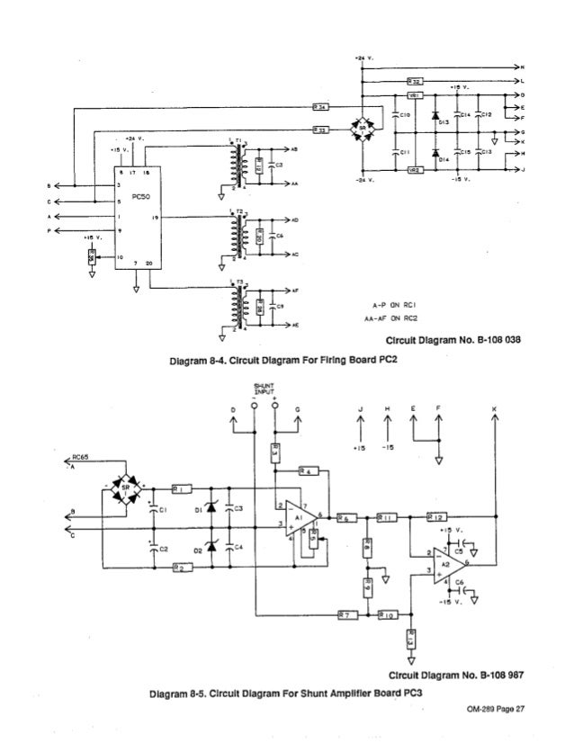 circuit diagram for shunt amplitier board pc3 om-289 page 27