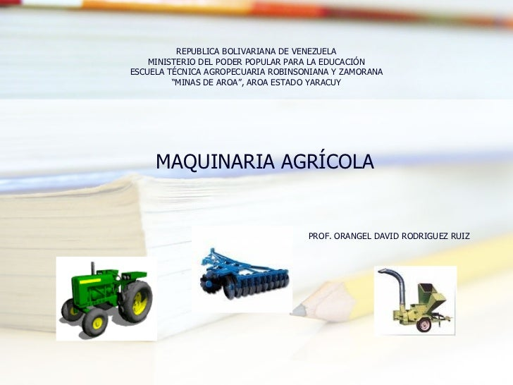 REPUBLICA BOLIVARIANA DE VENEZUELA MINISTERIO DEL PODER POPULAR PARA LA EDUCACIÓN ESCUELA TÉCNICA AGROPECUARIA ROBINSONIAN...