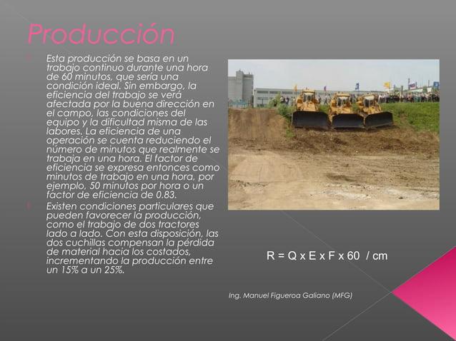Producción  Esta producción se basa en un trabajo continuo durante una hora de 60 minutos, que sería una condición ideal....