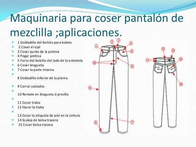 coser un bajo de un pantalon en ingles