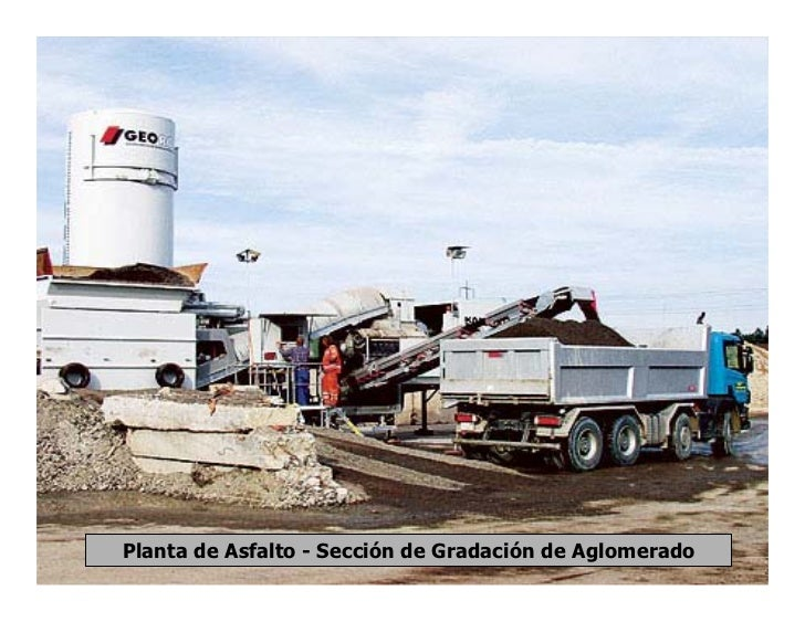 Planta de Asfalto - Sección de Gradación de Aglomerado