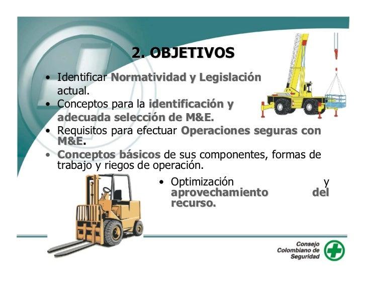 2. OBJETIVOS • Identificar Normatividad y Legislación   actual. • Conceptos para la identificación y   adecuada selección ...