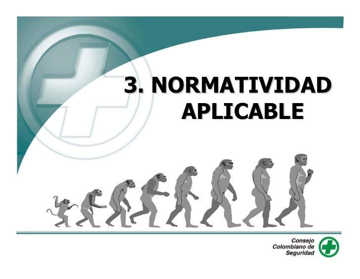 3. NORMATIVIDAD      APLICABLE
