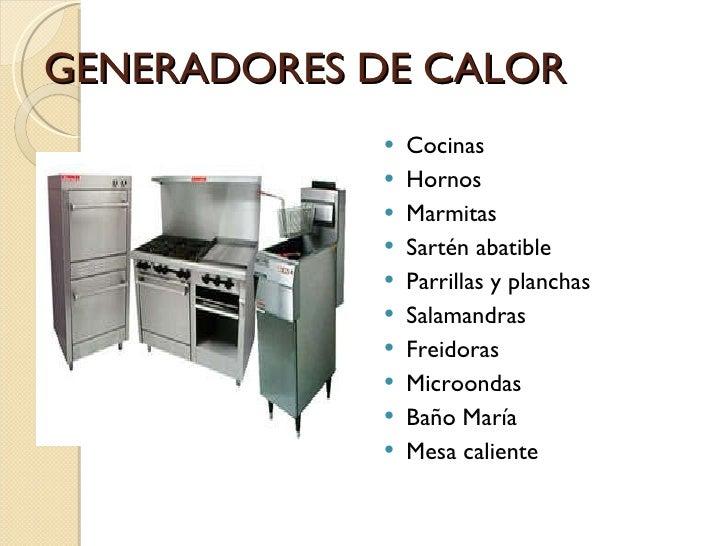 Maquinaria y equipo for Utensilios de cocina y sus funciones pdf