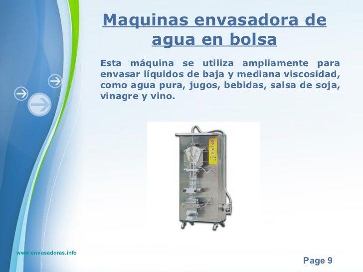 Maquinas envasadoras y equipo de envasado en colombia - Maquina de agua ...