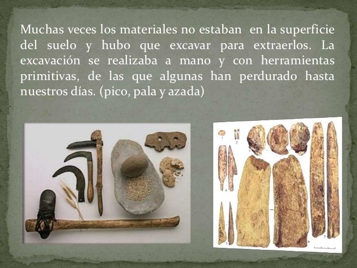 Maquinas primitivas for Materiales que componen el suelo