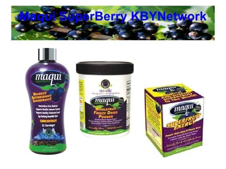 Maqui SuperBerry KBYNetwork Brunswick Laboratories Test Certificate