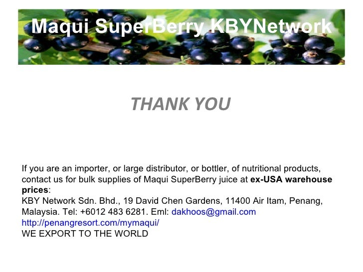 Maqui SuperBerry KBYNetwork STEP TWO Invite someone new to hear your Online Store's Story Every Day