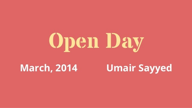 March 2014 Frappe Open Day by Anand Doshi