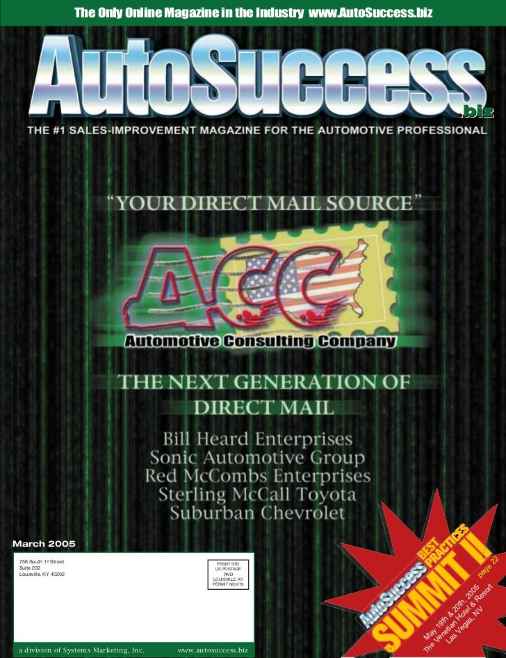 The Only Online Magazine in the Industry www.AutoSuccess.biz                                                              ...