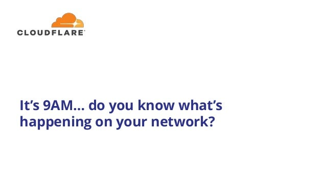 It's 9AM… do you know what's happening on your network?