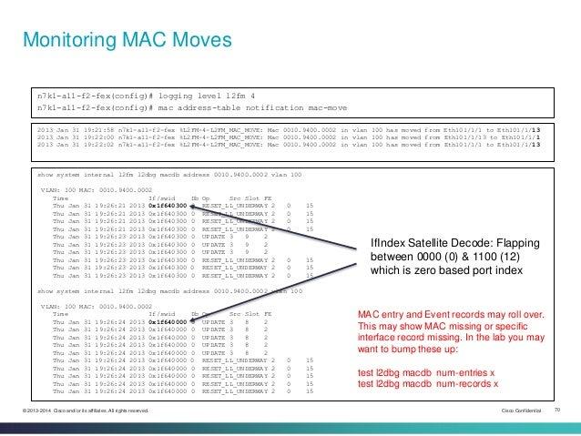 nexus mac address table