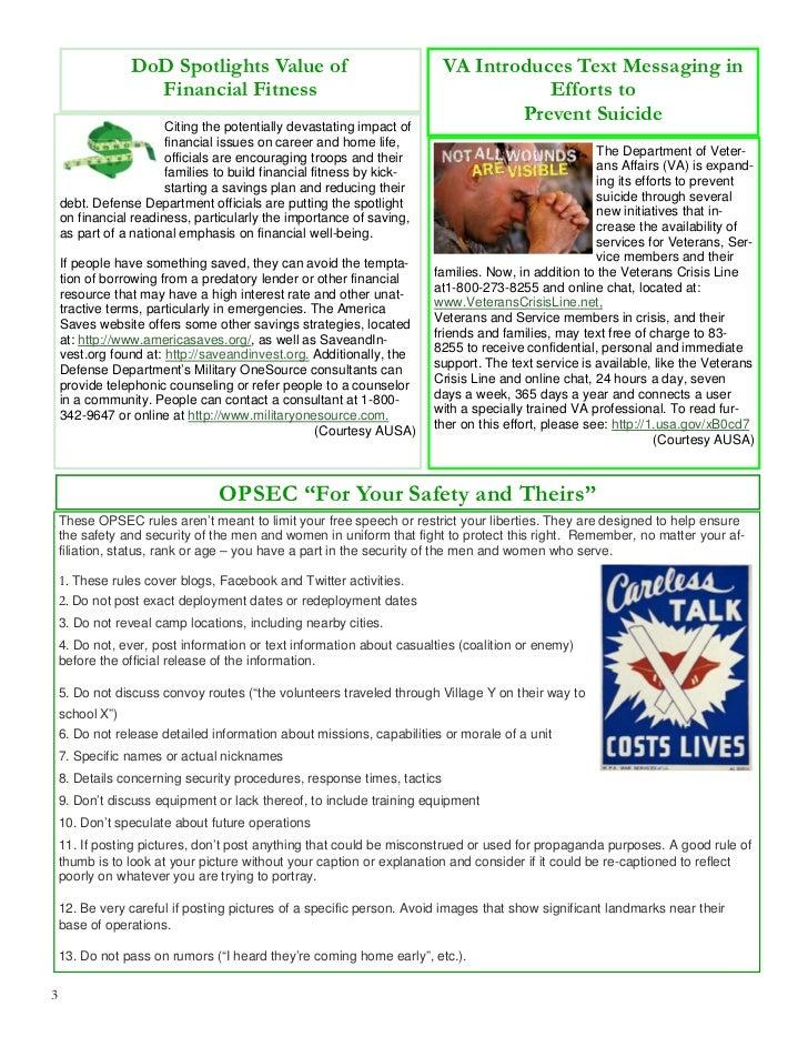Mar 2012 1 ID Fort Riley Monthly Newsletter Slide 3