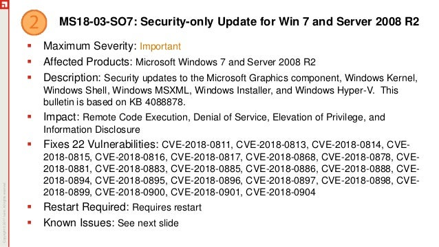 March 2018 Patch Tuesday Ivanti