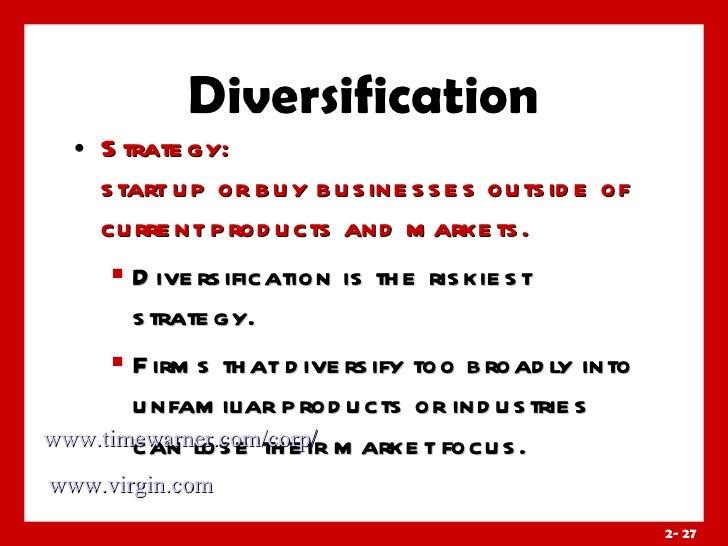 Riskiest diversification analysis strategy