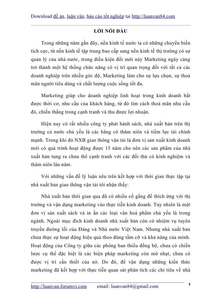 Download đề án, luận văn, báo cáo tốt nghiệp tại http://luanvan84.com                              LỜI NÓI ĐẦU    Trong nh...