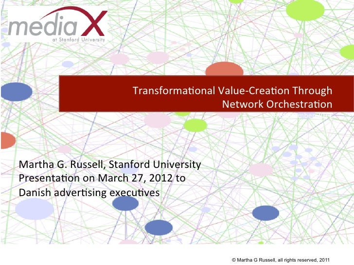 Transforma)onal	  Value-­‐Crea)on	  Through	                                                      	  Network	  Orchestra)o...