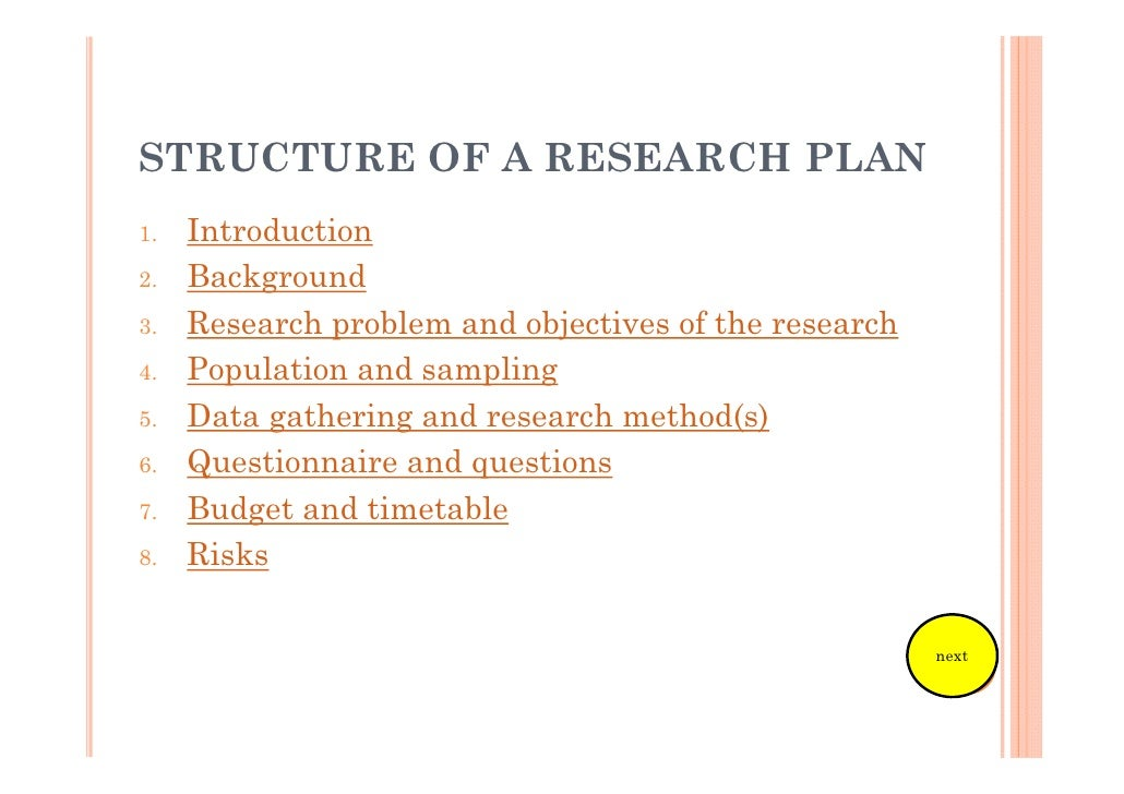 Marketing Research Plan