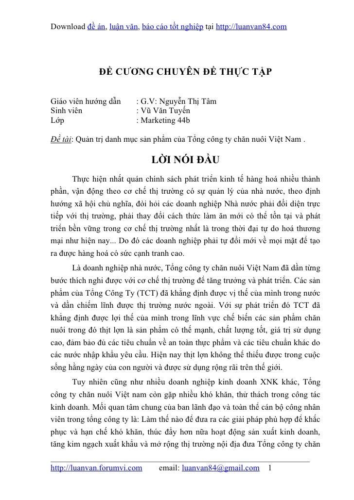 Download đề án, luận văn, báo cáo tốt nghiệp tại http://luanvan84.com              ĐỀ CƯƠNG CHUYÊN ĐỀ THỰC TẬPGiáo viên hư...