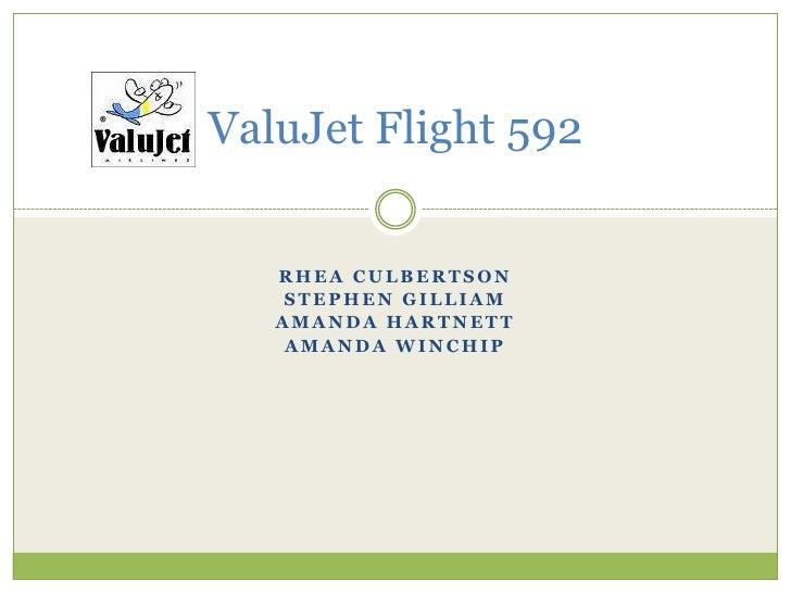 ValuJet Flight 592<br />Rhea Culbertson<br />Stephen Gilliam<br />Amanda Hartnett<br />Amanda Winchip<br />