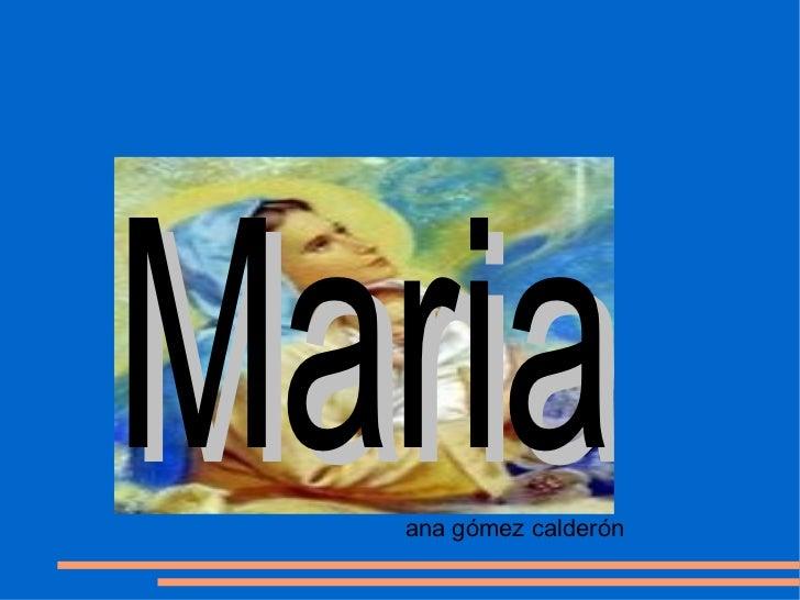 Maria   Título         ana gómez calderón