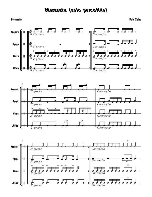 Maracatu (solo percutido)Percussão                                                                           Kaio Sales   ...