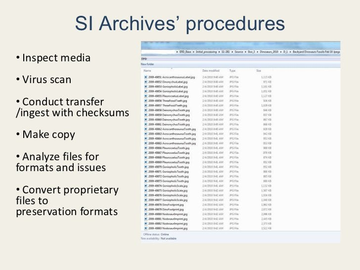 Born-digital records that document the Smithsonian's history<br /><ul><li> Text