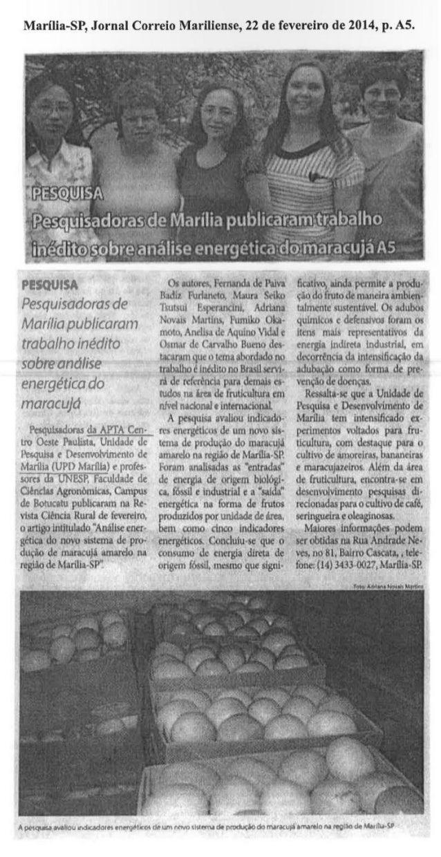 Maracujá - Jornal Correio Mariliense