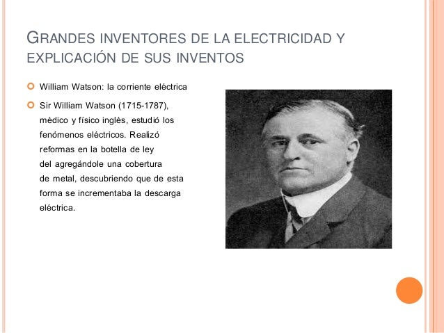 inventores famosos de la electricidad