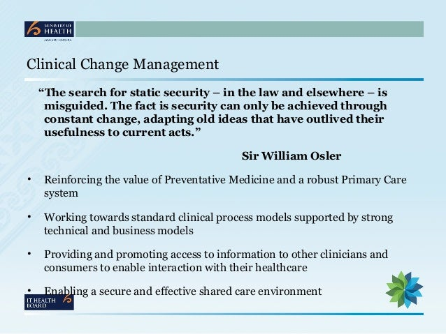 leading and managing change in clinical Change management in ehr implementation primer change management strategies and principles to successfully navigate the change process one of the leading.