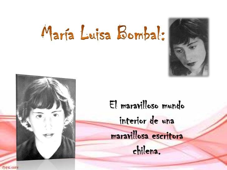 Biografia maria luisa bombal pdf