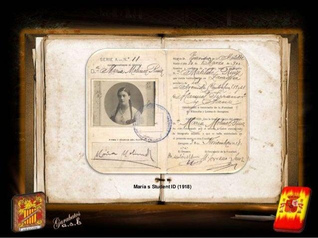 María s Student ID (1918)