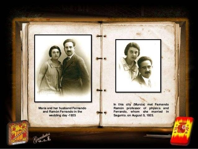 In this city (Murcia) met FernandoMaría and her husband Fernando   Ramón professor of physics and  and Ramón Ferrando in t...