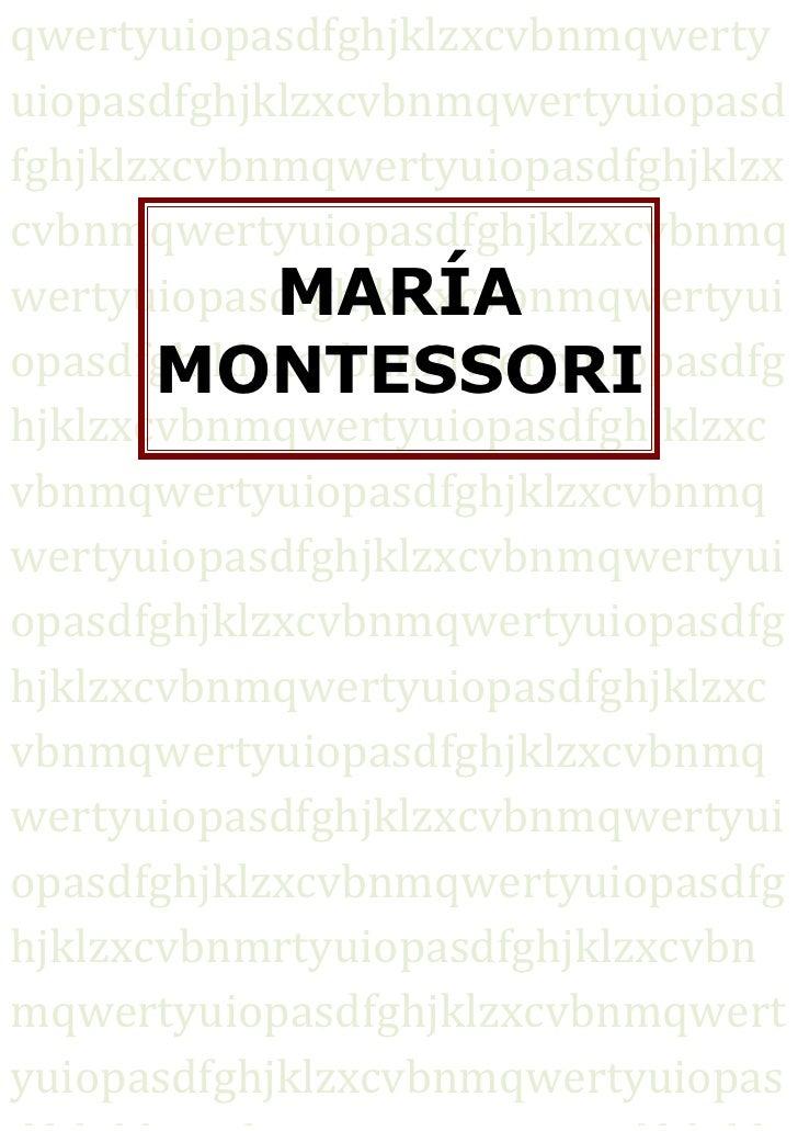 Essay/Term paper: Maria montessori