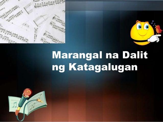 Marangal na Dalit ng Katagalugan