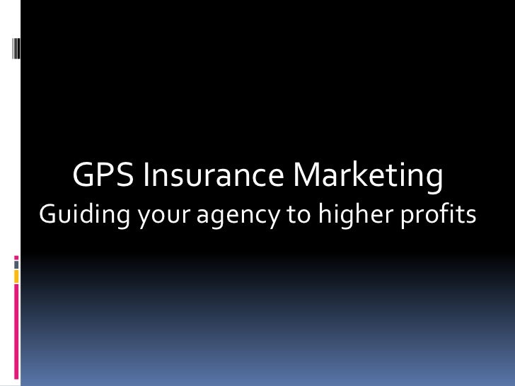 GPS Insurance MarketingGuiding your agency to higher profits