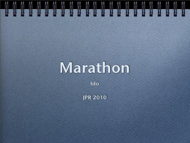 Marathon     Ido    JPR 2010