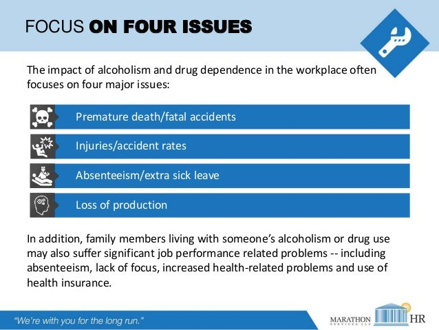 Drugs & Alcohol in the Workplace - What's Your Policy? Slide 3
