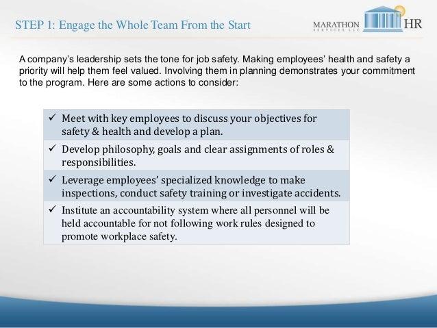 MarathonHR Workplace Safety Program  Slide 2
