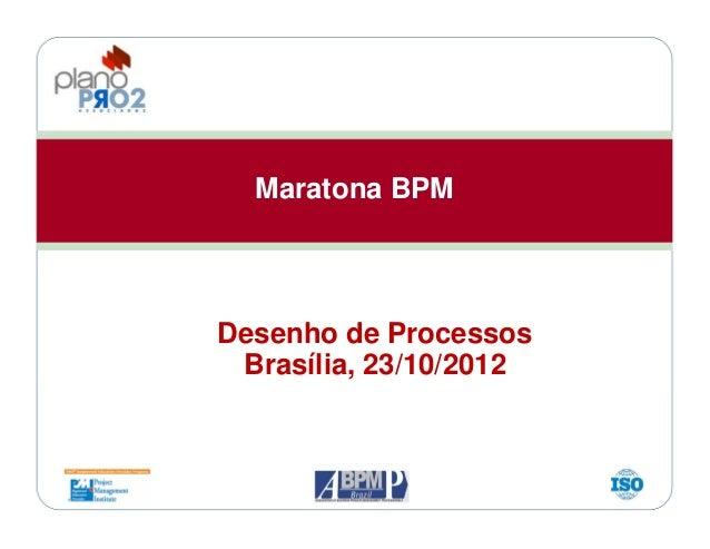 Maratona BPM Desenho de Processos Brasília, 23/10/2012