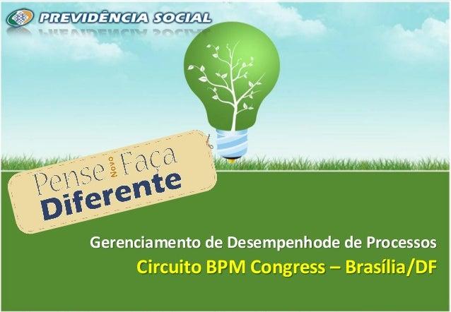 1 Gerenciamento de Desempenhode de Processos Circuito BPM Congress – Brasília/DF